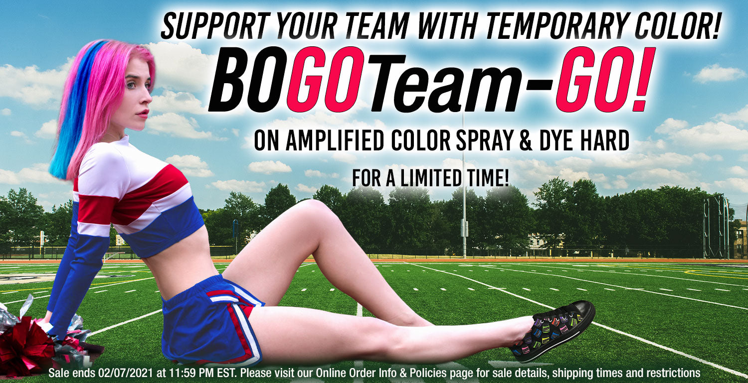 Buy 1 Get 1 Free - Temporary Color - Dye Hard Styling Gel and Amplified Color Spray