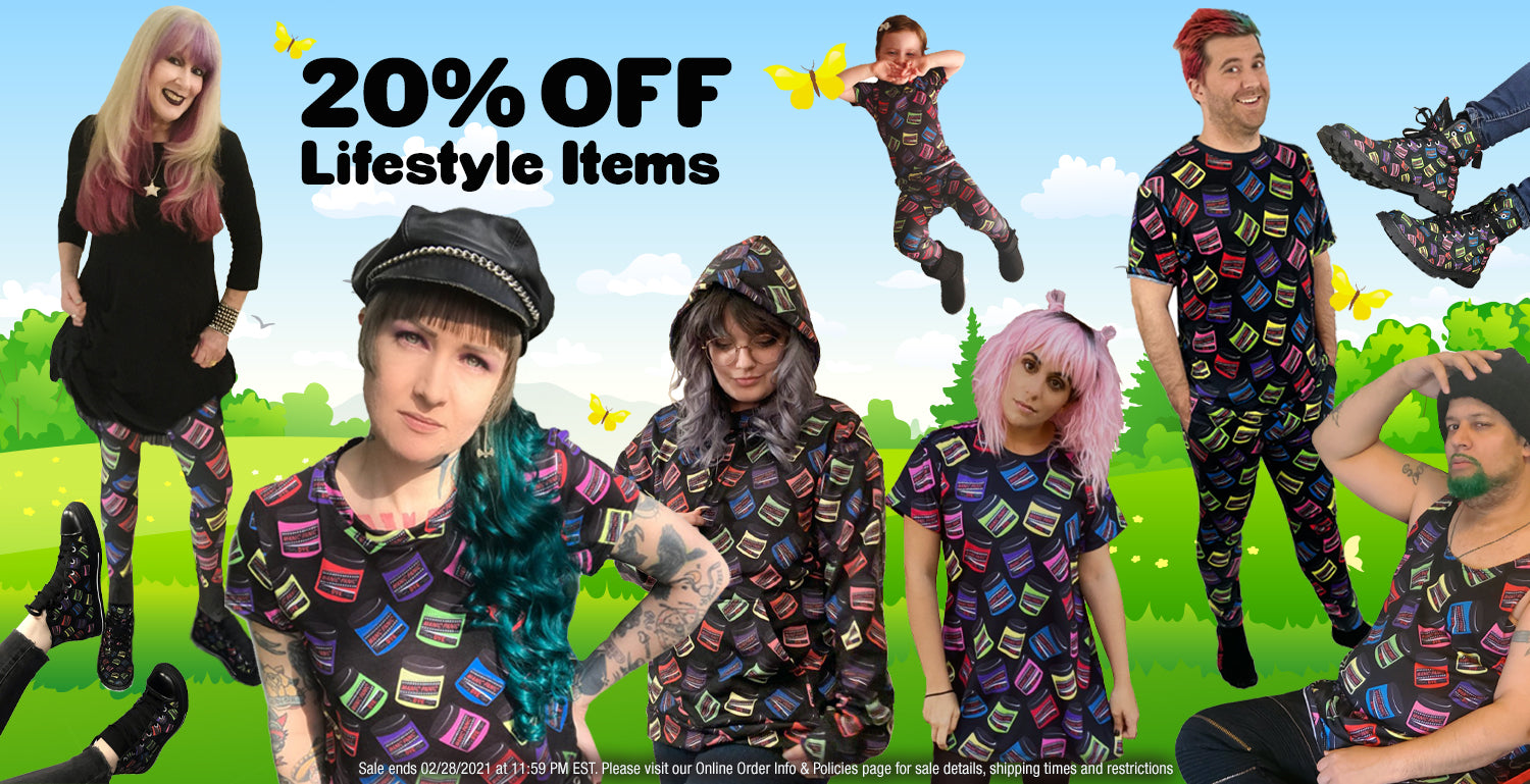20% OFF Lifestyle Items - Apparel & Accessories