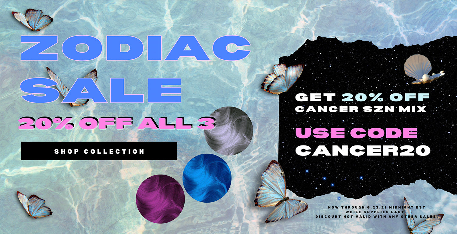 Cancer Zodiac Sale - 20% OFF Cancer Colors, bad boy blue, mystic heather amplified, silver stiletto amplified