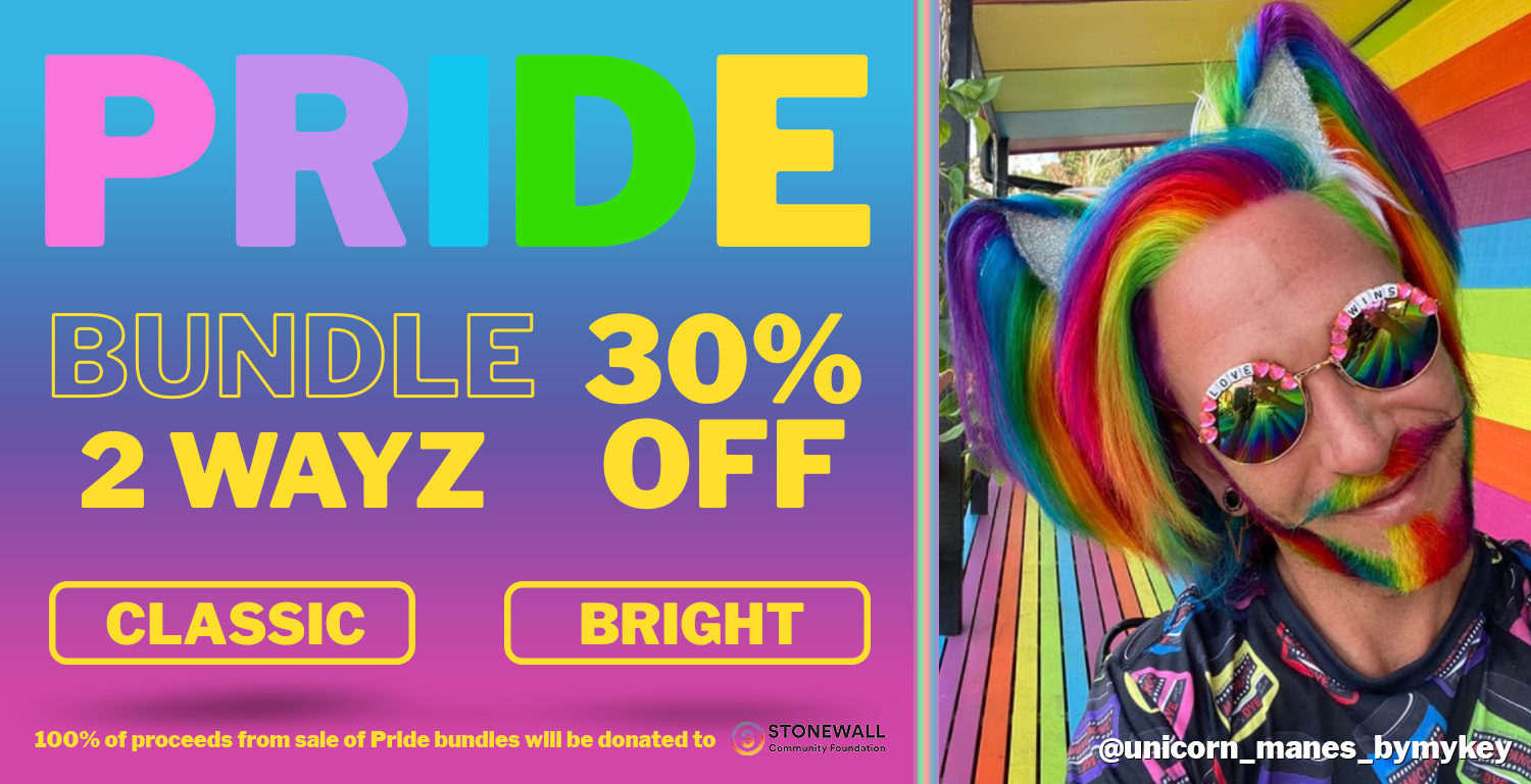 Unleash your Inner Rainbow with our Pride Bright Bundle! Save 30% by purchasing these colors together all through June 2021! 100% of proceeds donated to charity.
