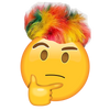 Colorful haired emoji
