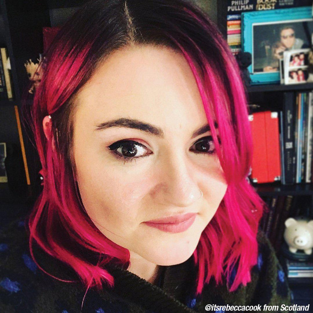 Cleo Rose® - Classic High Voltage® - Tish & Snooky's Manic Panic, hair color, hair dye, fuschia, fuchsia, punch, magenta, hot pink, cerise, ruby, hair level, swatch, color