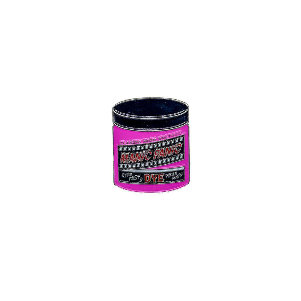 Manic Panic Classic Jar Enamel Pin - Cotton Candy Pink