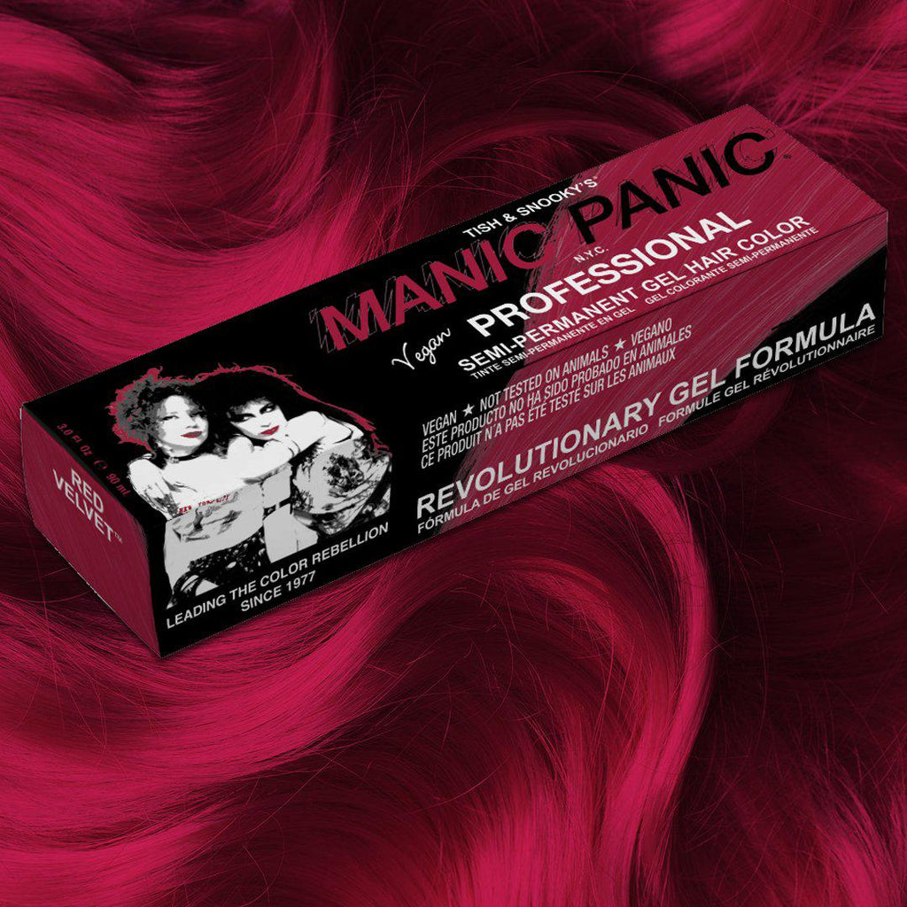 Red Velvet® - Professional Gel Semi-Permanent Hair Color - Tish & Snooky's Manic Panic