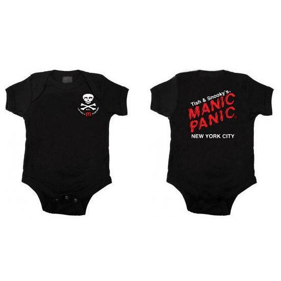 Apparel Baby Onesie w/double-sided logo - Tish & Snooky's Manic Panic