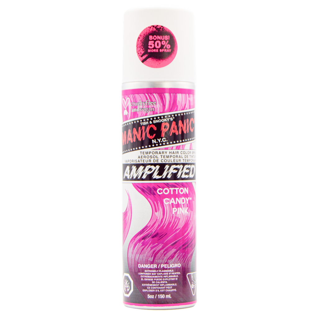 Cotton Candy Pink - Amplified™ Temporary Spray-On Color and Root Touch-Up - LIMITED EDITION - 50% MORE! - Tish & Snooky's Manic Panic