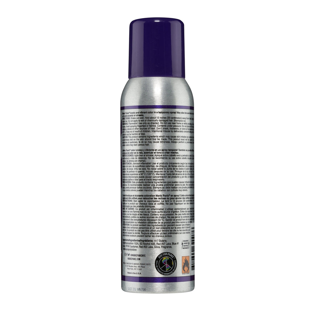 Tish & Snooky's Manic Panic Color Spray Ultra™ Violet - Amplified™ Temporary Spray-On Color and Root Touch-Up