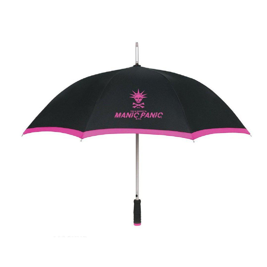Tish & Snooky's Manic Panic GIFTS Black w/Fuschia logo Two Toned Umbrellas