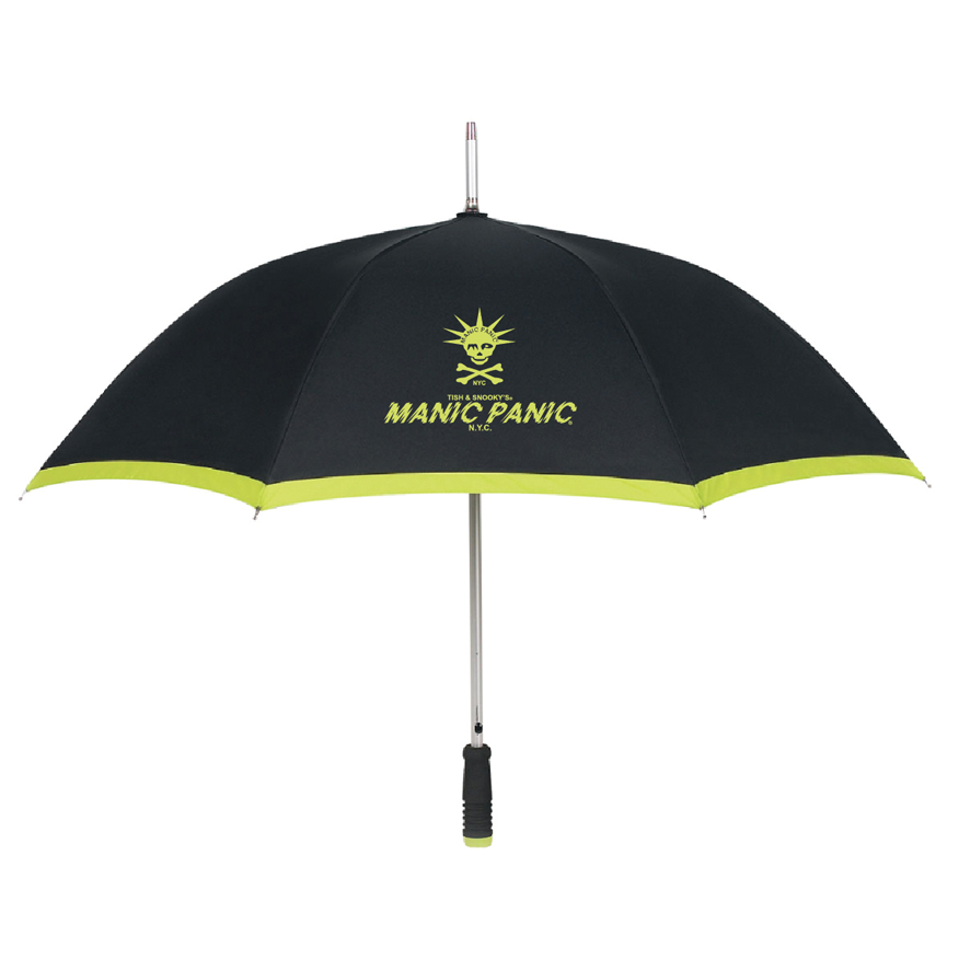 Tish & Snooky's Manic Panic GIFTS Black w/Lime logo Two Toned Umbrellas