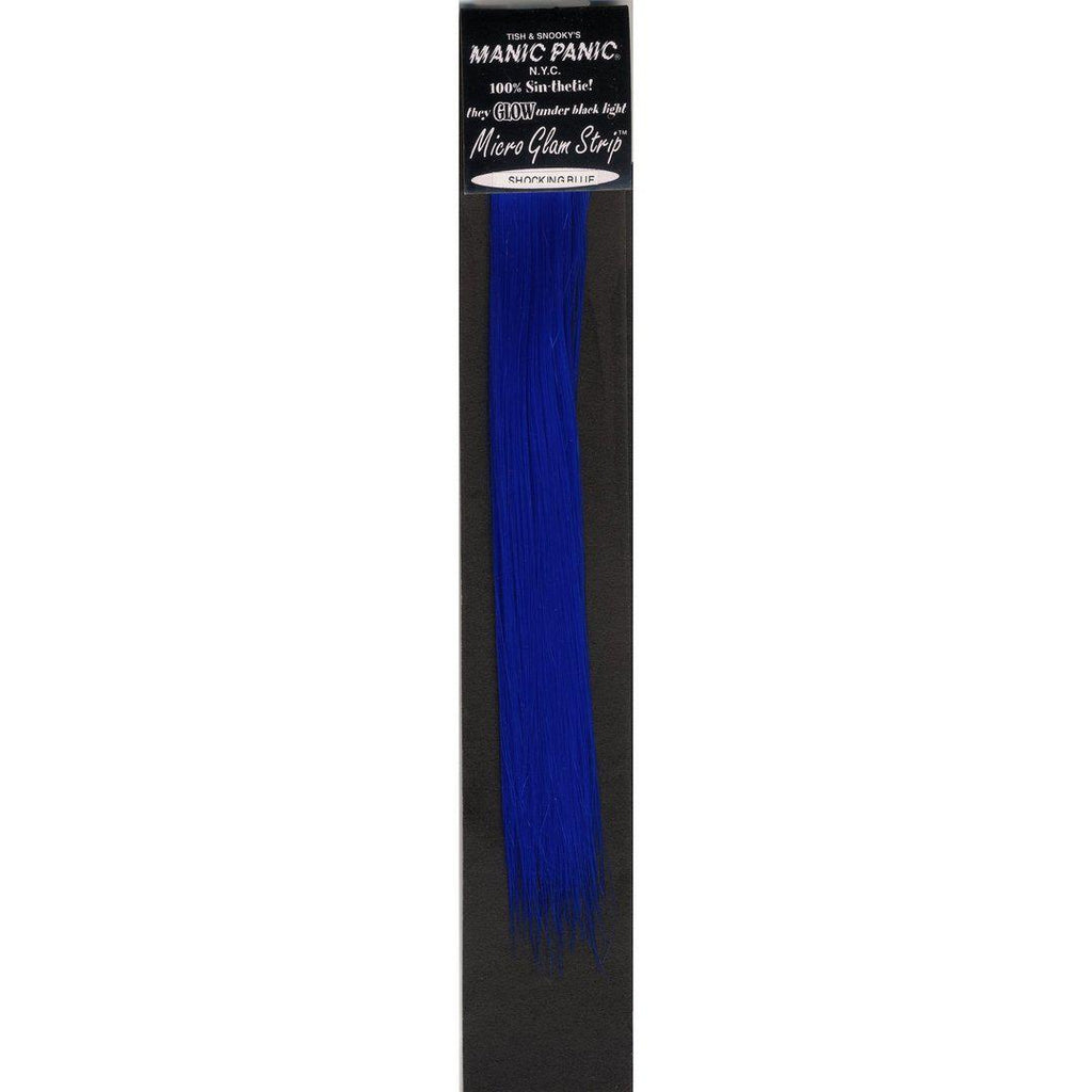 "Tish & Snooky's Manic Panic Glam Strips Shocking™ Blue  8"" Micro Glam Strips®"