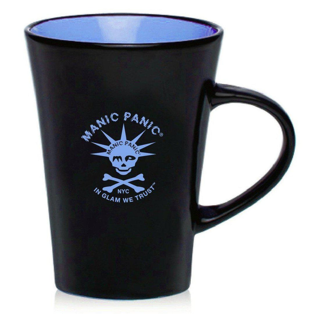 Housewares BLACK MUG W/BLUE SKULLY - Tish & Snooky's Manic Panic
