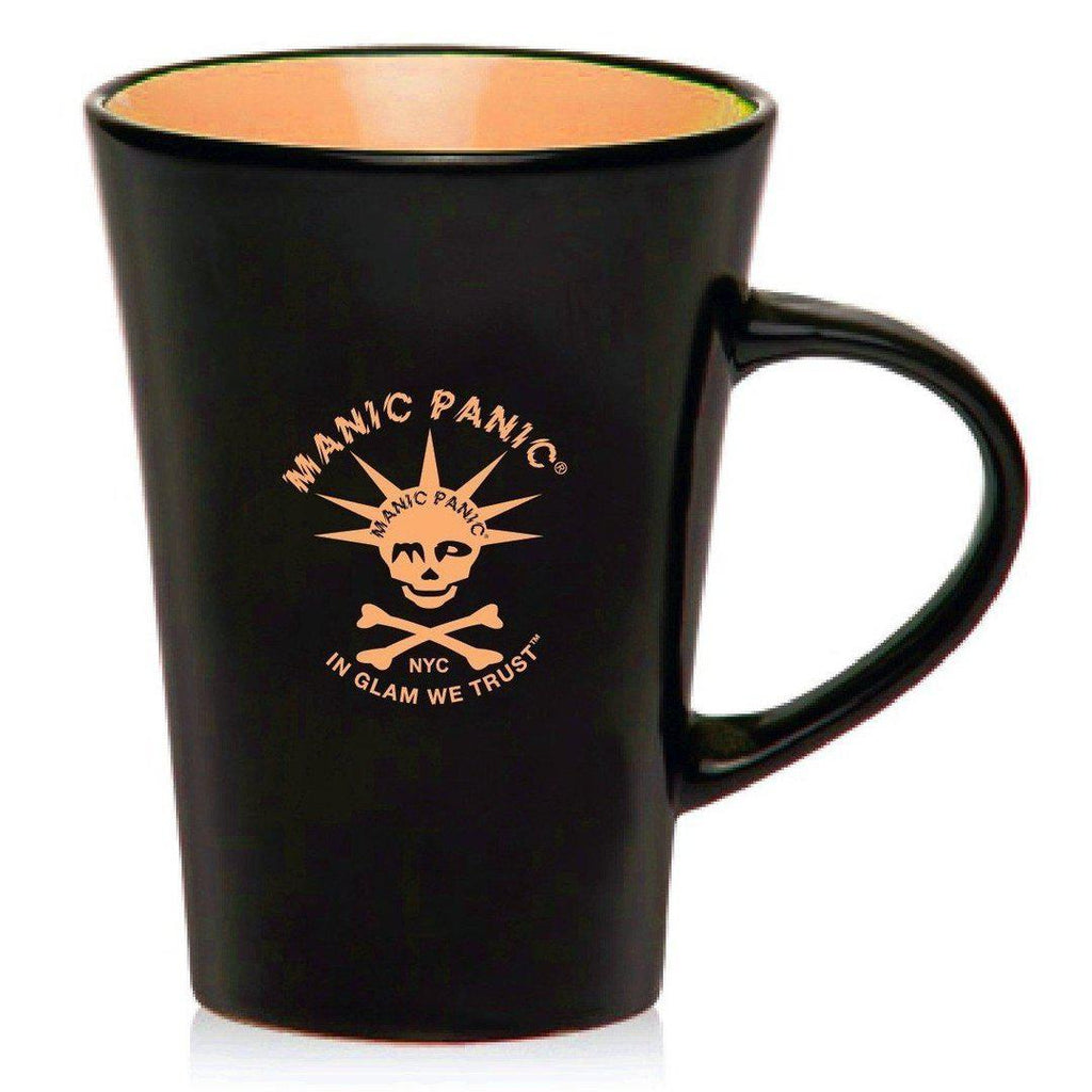 Housewares BLACK MUG W/ORANGE SKULLY - Tish & Snooky's Manic Panic