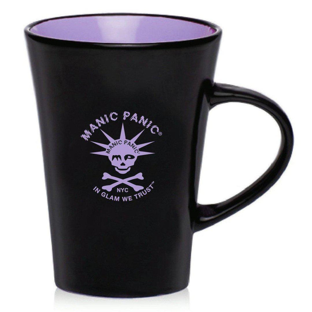 Housewares BLACK MUG W/PURPLE SKULLY - Tish & Snooky's Manic Panic