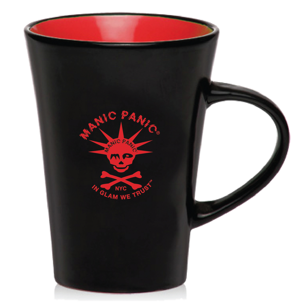 Housewares BLACK MUG W/RED SKULLY - Tish & Snooky's Manic Panic
