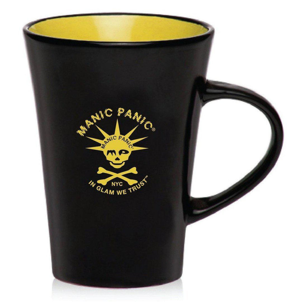 Housewares BLACK MUG W/YELLOW SKULLY - Tish & Snooky's Manic Panic