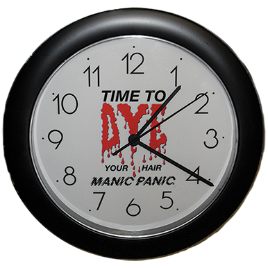 Tish & Snooky's Manic Panic Housewares TIME TO DYE WALL CLOCK