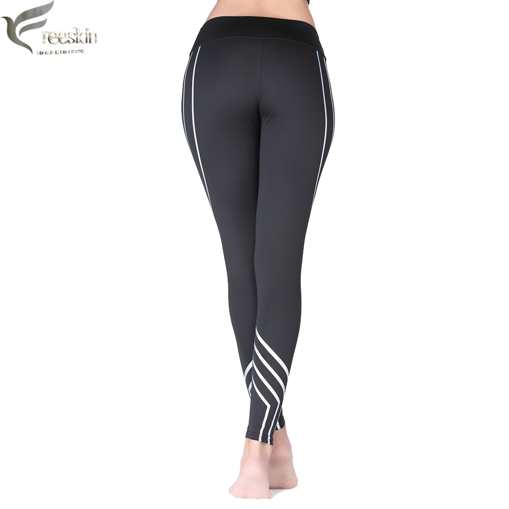 1662d2560a ... Benovelent Women Reflective Sports Pants Fast Dry Yoga Leggings -  Benovelent ...