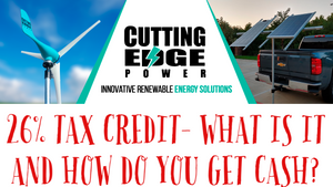26% tax credit - what is it and how do you get the cash.