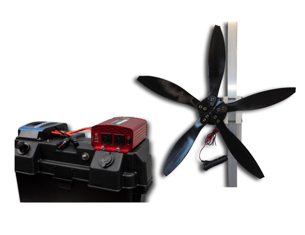 How fast can a CEP mini wind turbine charge my battery?