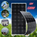 100W 18V / 12V Flexible Solar Panel, Monocrystalline Silicon Cells