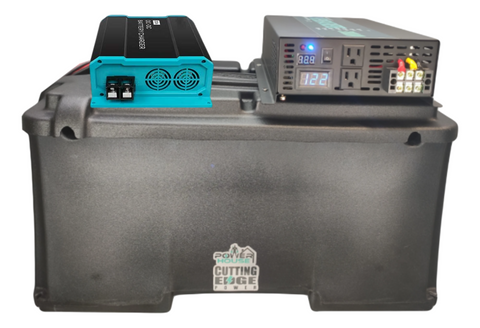 Secondary Battery Box w Inverter, 12V, for Overlanding, Commercial, Construction, DC DC Charger