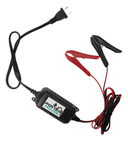 12V 1.5Amp Smart Fully Automatic Battery Charger/Maintainer for Cars, Motorcycles, ATVs, RVs, Powersports, Boat and More
