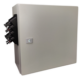 CEP Outdoor Solar Junction box, 4 circuit input, Made in USA, with circuit breakers and DIN rail terminal blocks - Cutting Edge Power