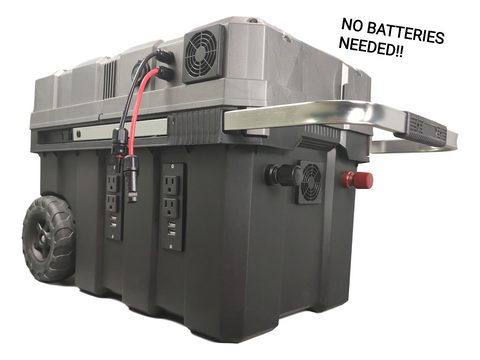 2500W BatteryLESS Solar Panel to 12V Solar Generator, No Battery Required, 60A Breaker, with 2500W Inverter