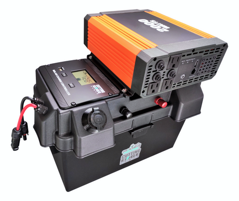 2000W Solar Generator, Portable Solar Battery Box w Inverter, USB, 12V Inputs/Outputs - Cutting Edge Power