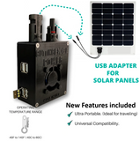 Solar Panel USB Adapter Charge Controller Backpacking Camping Hiking OffGrid
