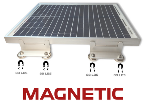 Magnetic Solar Panel Mount Bracket, 700 lbs, for sheds, roofs, boats, cars, trucks, trailers
