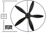 "5 Mini Blades + Hub for Cyclone Wind Turbine. 18"" Swept Diameter. - Cutting Edge Power"