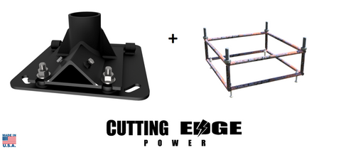 Easy to Raise Wind Turbine Generator Base Stand Mount Heavy Duty W/ Rebar Cage - Cutting Edge Power