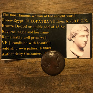 Cleopatra Coin Reproduction Charm