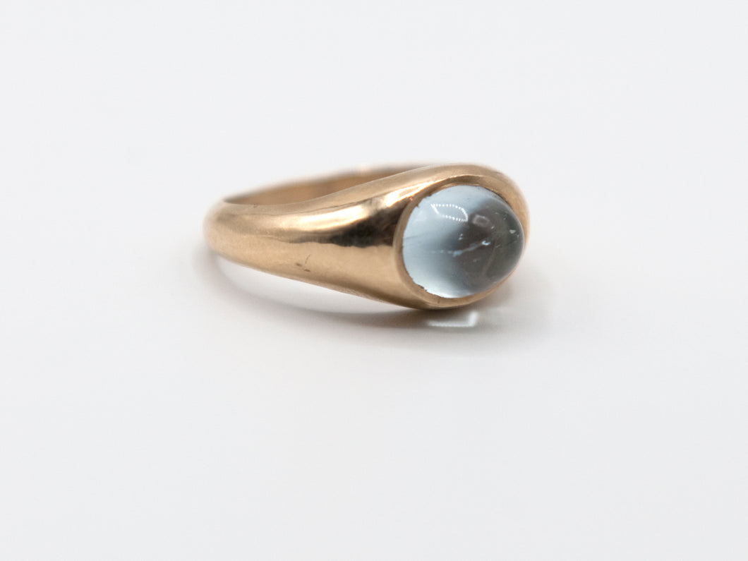 Aquamarine Signet Ring