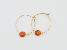 Load image into Gallery viewer, Carnelian Hoops