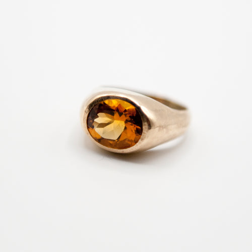 Citrine Signet Ring