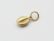 Load image into Gallery viewer, 14K Yellow Gold Coffee Bean Charm