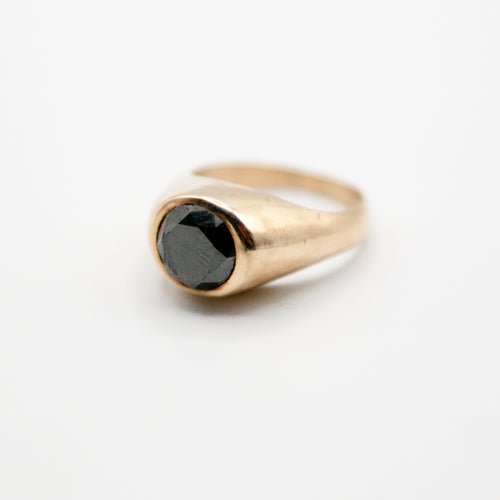 Black Diamond Signet Ring