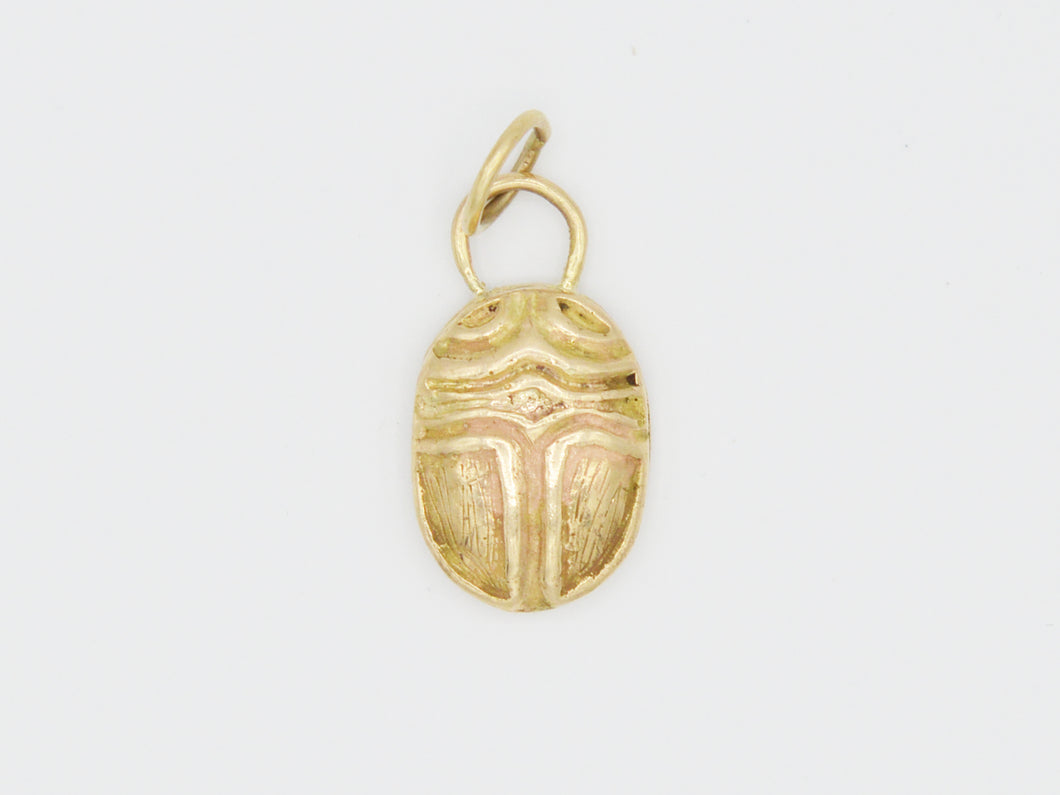 Textured Scarab Charm
