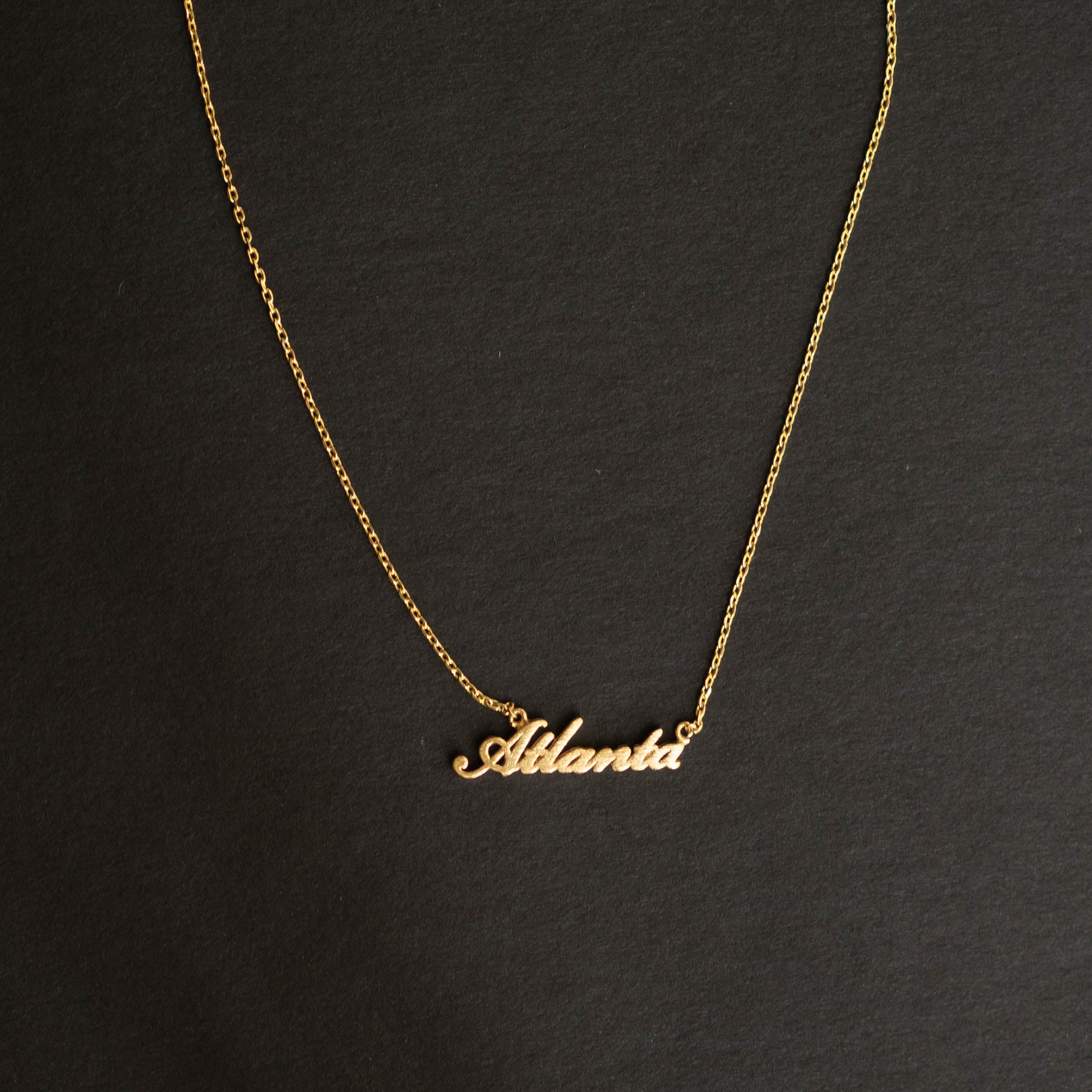 Atlanta Script Necklace