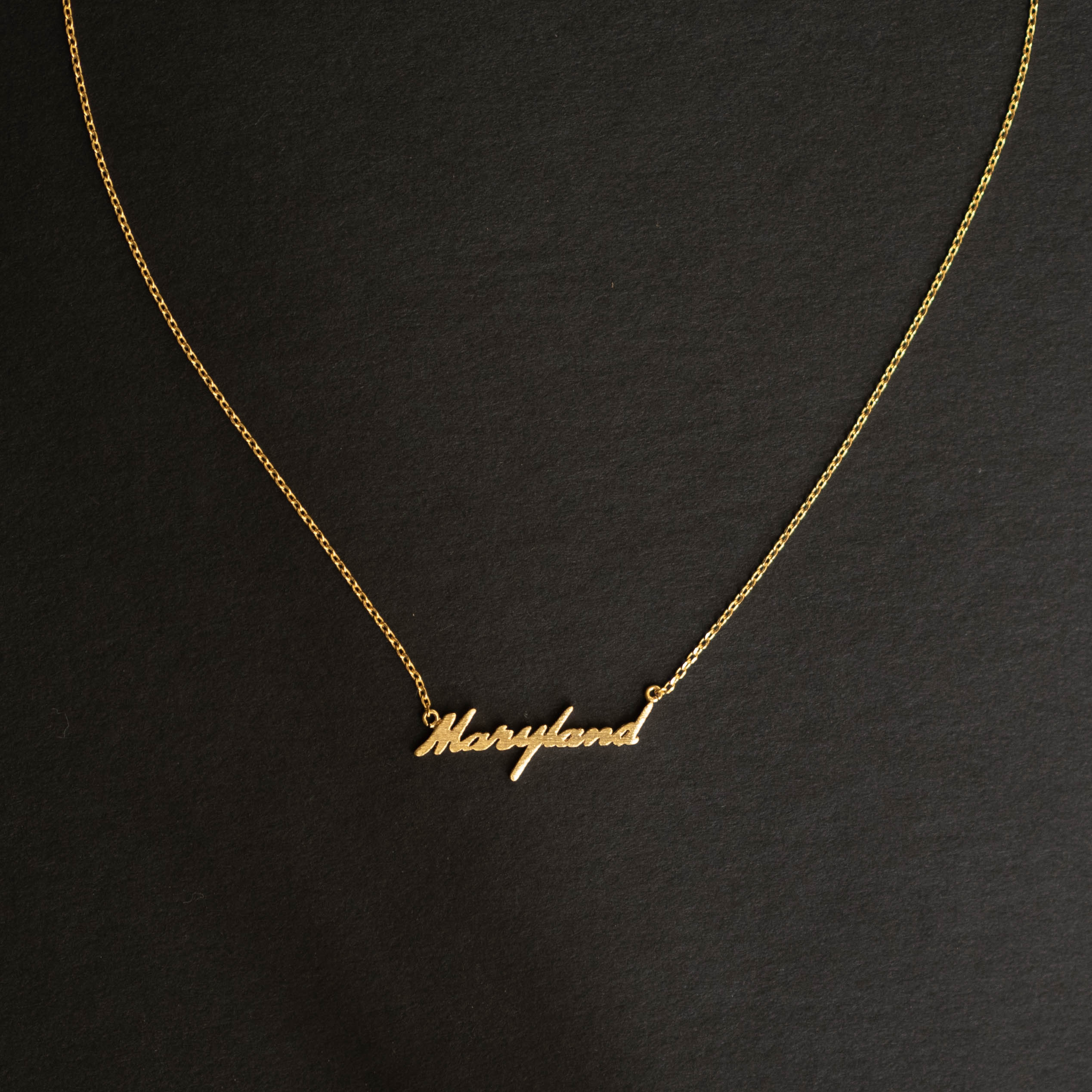Maryland Script Necklace