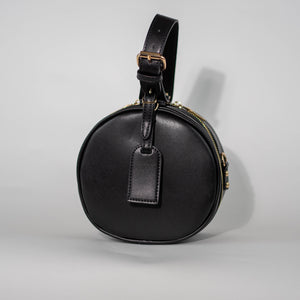 Black Round Crossbody Front