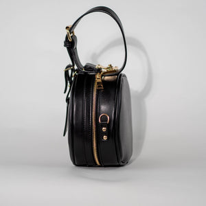 Black Round Crossbody Side