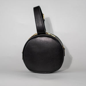 Black Round Crossbody Back