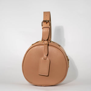 Tan Round Crossbody