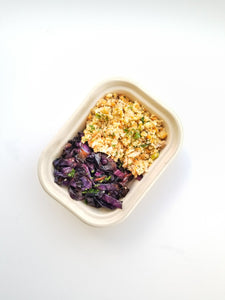 Chicken and Rice Bowl with Roasted Cabbage