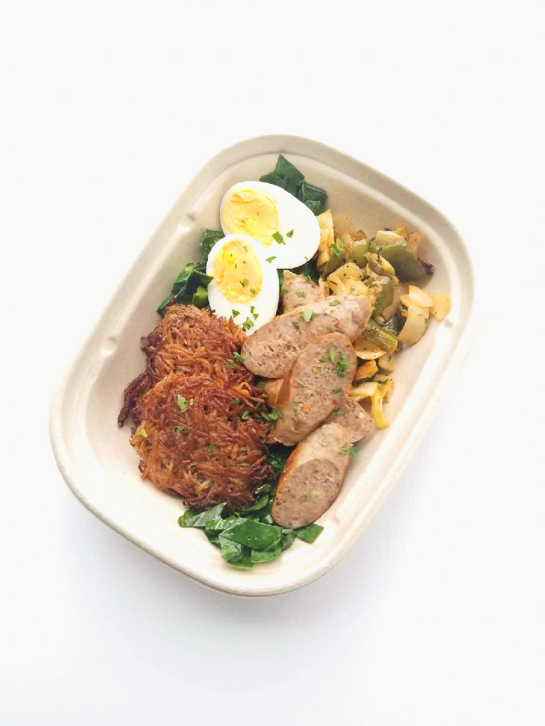 Diner Bowl with Hash Browns, Sauteed Greens