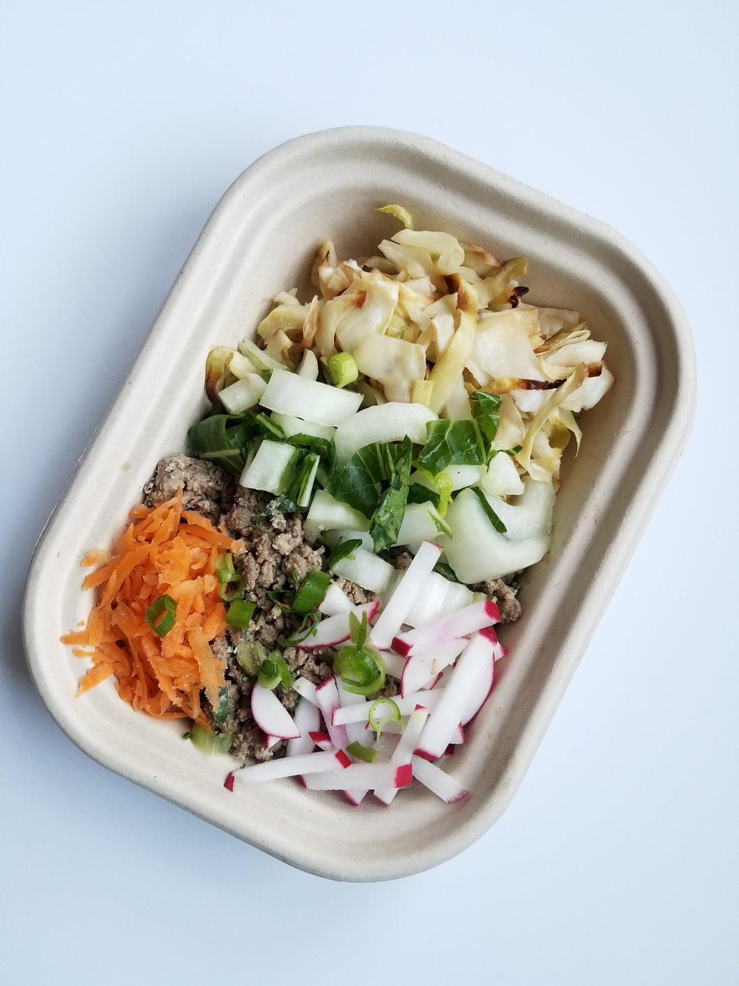 Ginger Beef Bowl with Root Vegetable Rice