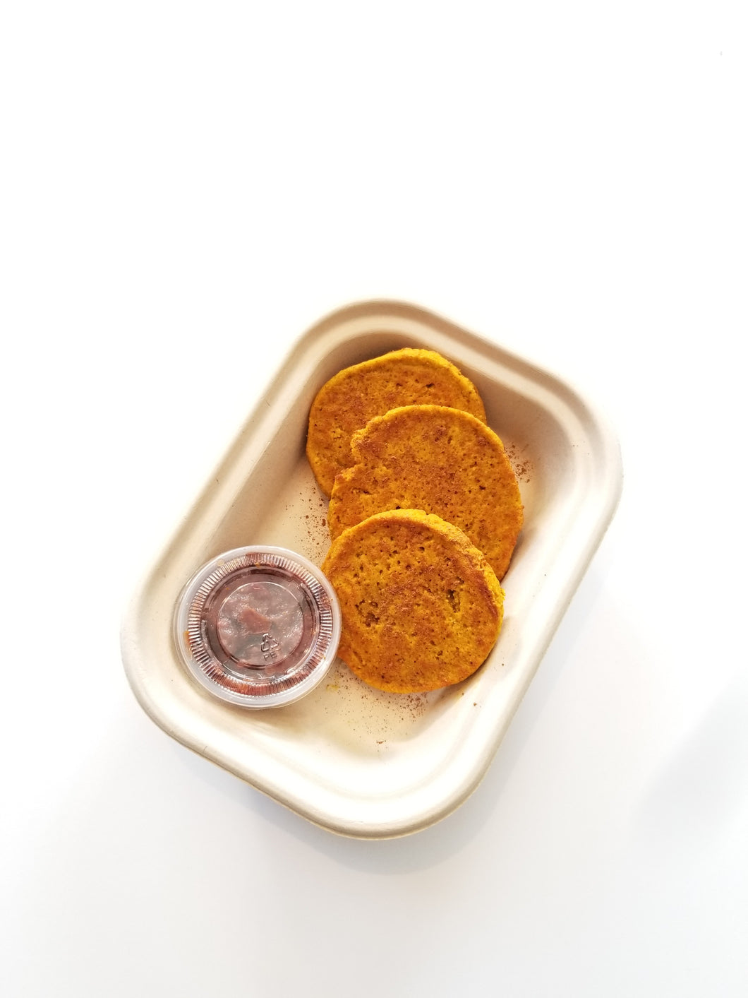 Pumpkin Pancakes with Dried Fruit Compote